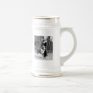 St Bernard & Boston Terrier, 1925 Beer Stein