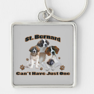 St. Bernard Can't Have Just One Products Keychain