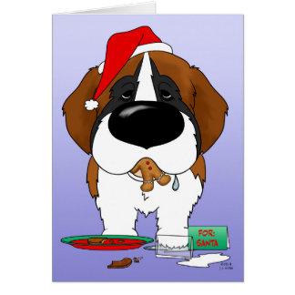 St. Bernard Christmas Card