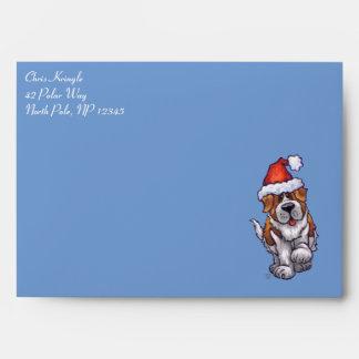 St. Bernard Christmas Envelopes