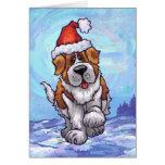 St. Bernard Christmas Greeting Cards