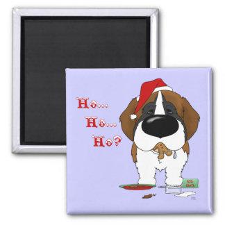 St. Bernard Christmas Fridge Magnet