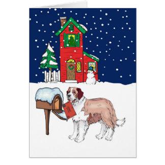 St Bernard Christmas Mail Card