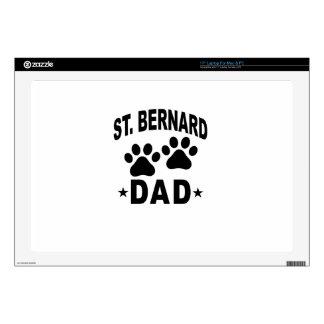 "ST BERNARD DAD DOG.png Decal For 17"" Laptop"