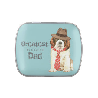 St. Bernard Dad Jelly Belly Candy Tins
