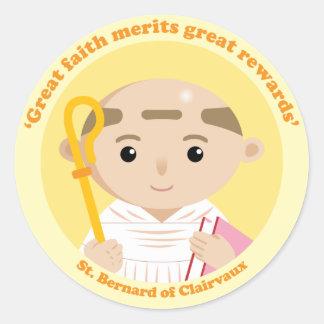 St Bernard de Clairvaux Pegatina Redonda