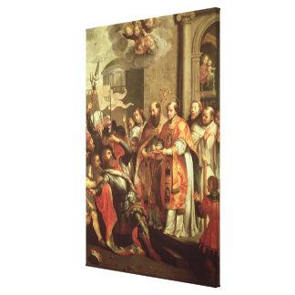 St Bernard de Clairvaux y del duque de Guillermo X Impresión En Lienzo