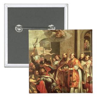 St Bernard de Clairvaux y del duque de Guillermo X Pin Cuadrado