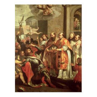 St Bernard de Clairvaux y del duque de Guillermo X Postal