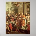 St Bernard de Clairvaux y del duque de Guillermo X Póster