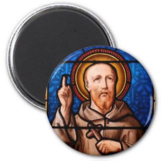 St Bernard del arte del vitral de Clairvaux Imanes