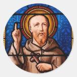 St Bernard del arte del vitral de Clairvaux Pegatina