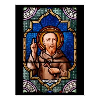 St Bernard del arte del vitral de Clairvaux Tarjeta Postal