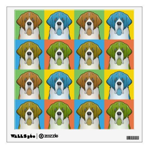 St. Bernard Dog Cartoon Pop-Art Room Graphic