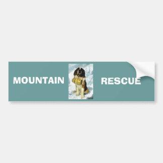 St Bernard dog, Mountain Rescue Bumper Sticker