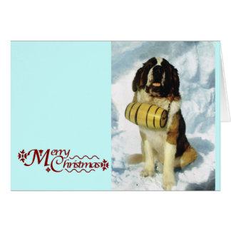 St Bernard dog, Mountain Rescue Card