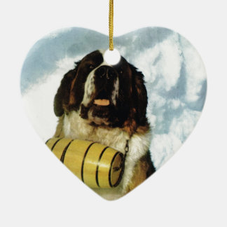 St Bernard dog, Mountain Rescue Ceramic Ornament