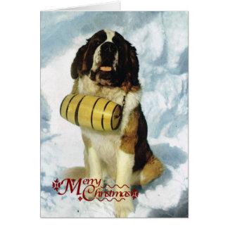 St Bernard dog, Mountain Rescue Greeting Cards