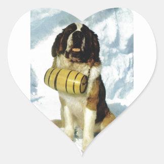 St Bernard dog, Mountain Rescue Heart Sticker