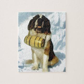 St Bernard dog, Mountain Rescue Jigsaw Puzzle