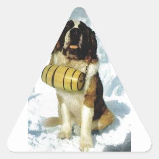 St Bernard dog, Mountain Rescue Triangle Sticker