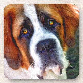 St Bernard Dog Painting Coaster