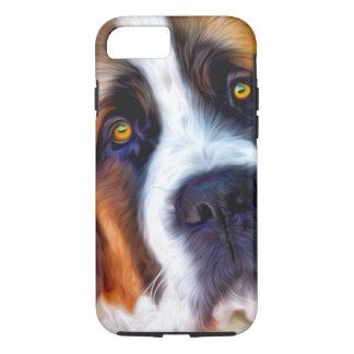 St Bernard Dog Painting iPhone 7 Case