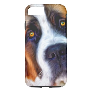ironydesignphotos St Bernard Dog Painting iPhone 7 Case