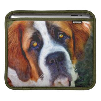 St Bernard Dog Painting Sleeve For iPads
