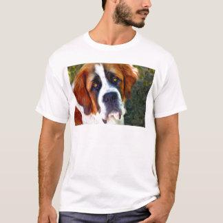 St Bernard Dog Painting T-Shirt