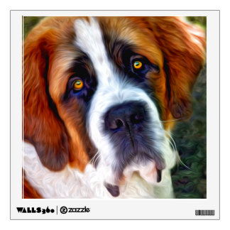 St Bernard Dog Painting Wall Sticker