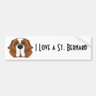 St Bernard feliz Pegatina Para Auto