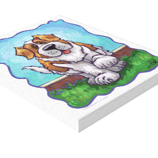 St. Bernard Gifts & Accessories Stretched Canvas Print