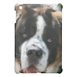 Case Savvy iPad Mini Glossy Finish Case with Saint Bernard Phone Cases design