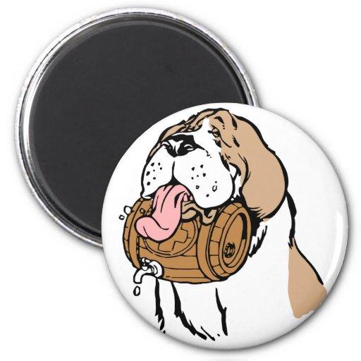 St. Bernard Keg Dog 2 Inch Round Magnet