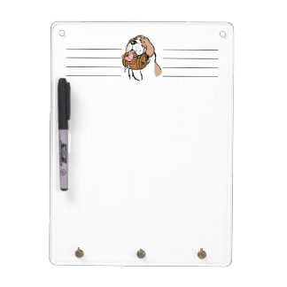 St. Bernard Keg Dog Dry Erase Board