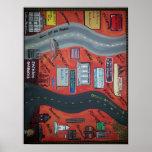 """St. Bernard LA """"Up da road"""" & """"Down da road"""" Posters"""