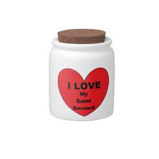 st bernard love candy jars