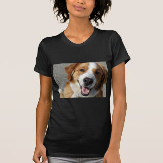 St. Bernard Mix Happy Dog Tee Shirts