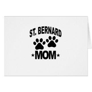 ST BERNARD MOM.png Tarjeta De Felicitación