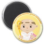 St. Bernard of Clairvaux 2 Inch Round Magnet