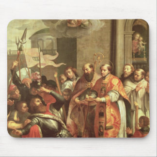 St. Bernard of Clairvaux  and William X  Duke Mouse Pad