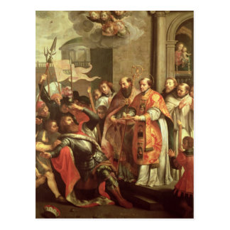 St. Bernard of Clairvaux  and William X  Duke Postcard