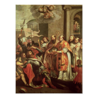 St. Bernard of Clairvaux  and William X  Duke Poster