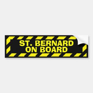 St. Bernard on board yellow caution sticker
