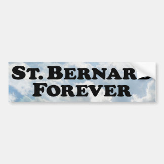 St Bernard para siempre - básico Pegatina Para Auto
