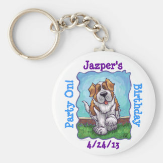 St. Bernard Party Center Keychain