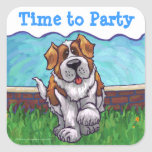 St. Bernard Party Center Square Sticker