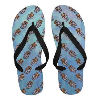 St Bernard Patterns Flip-Flops
