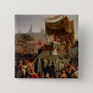 St. Bernard Preaching the Second Crusade Pinback Button